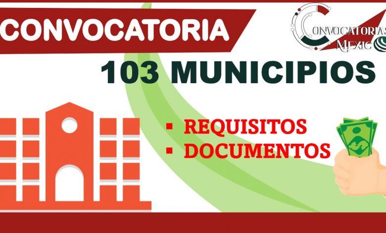 Convocatoria 103 municipios 2021-2022