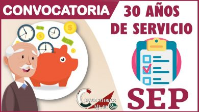 Convocatoria 30 años de servicio 2021-2022