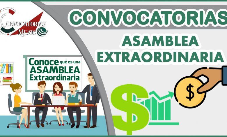 Convocatoria a Asamblea Extraordinaria 2021-2022