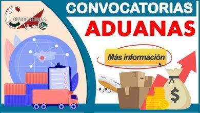 Convocatoria Aduanas 2021-2022