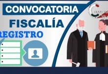 Convocatoria Fiscalía 2021-2022