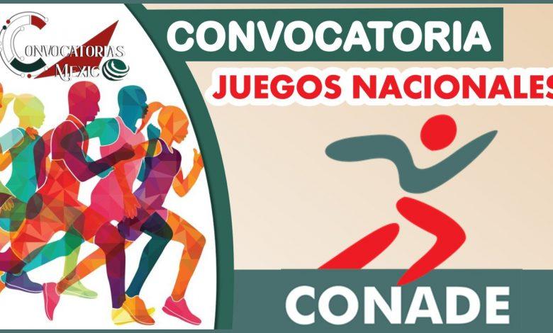 Convocatoria Juegos Nacionales CONADE 2021-2022