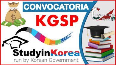 Convocatoria KGSP 2021-2022