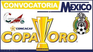 Convocatoria México Copa Oro 2021-2022