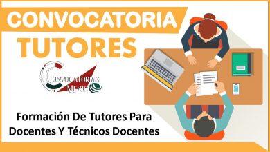Convocatoria tutores 2021-2022