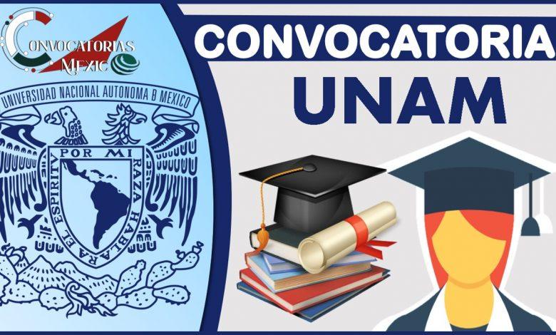 Convocatoria UNAM 2021-2022