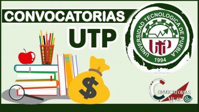 Convocatoria UTP 2021-2022