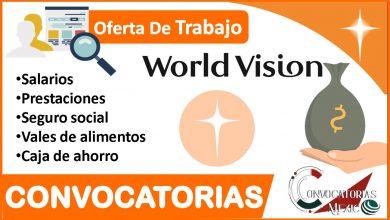 Convocatoria World Visión 2021-2022