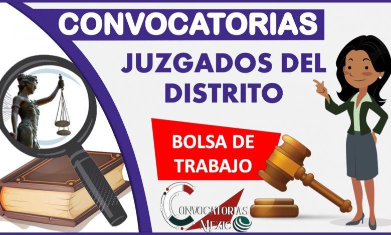 Convocatorias Juzgados del Distrito 2021-2022
