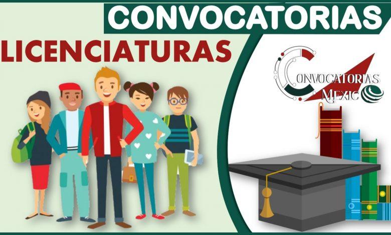 Convocatorias Licenciaturas 2021-2022