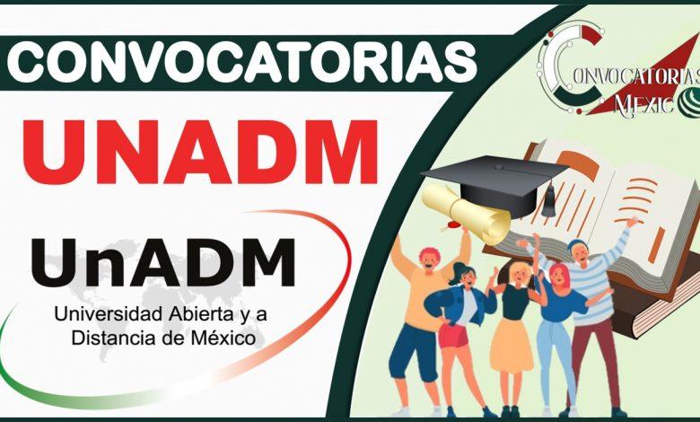 Convocatorias UNADM 2021-2022