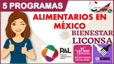 5 programas alimentarios en México 2021-2022