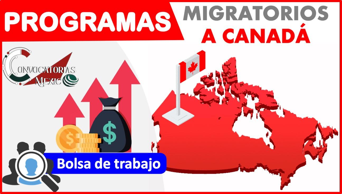 Programas migratorios a Canadá 2021-2022